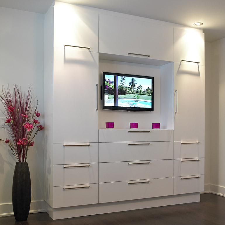 Cuisines Beauregard | Contemporary style storage unit and television cabinet
